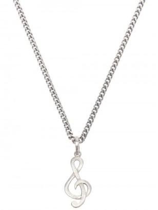 Saint Laurent treble clef necklace $495 thestylecure.com
