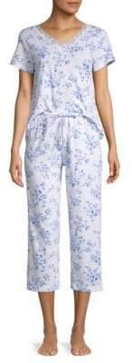 Carole Hochman Striped 2-Piece Pajama Set