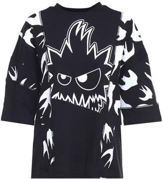 McQ Cut-up Swallow Monster Cotton-jersey T-shirt