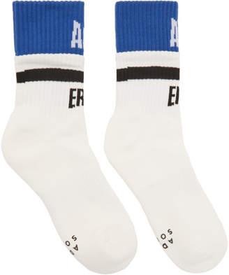 Ader Error ADER error White Double Logo Socks