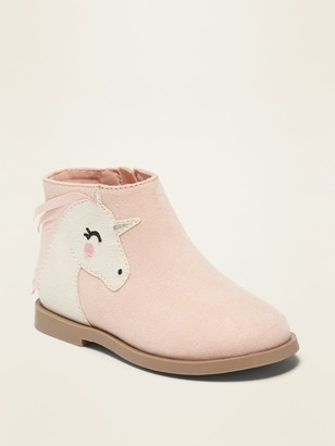 Old Navy Fringed Faux-Suede Unicorn Booties for Toddler Girls