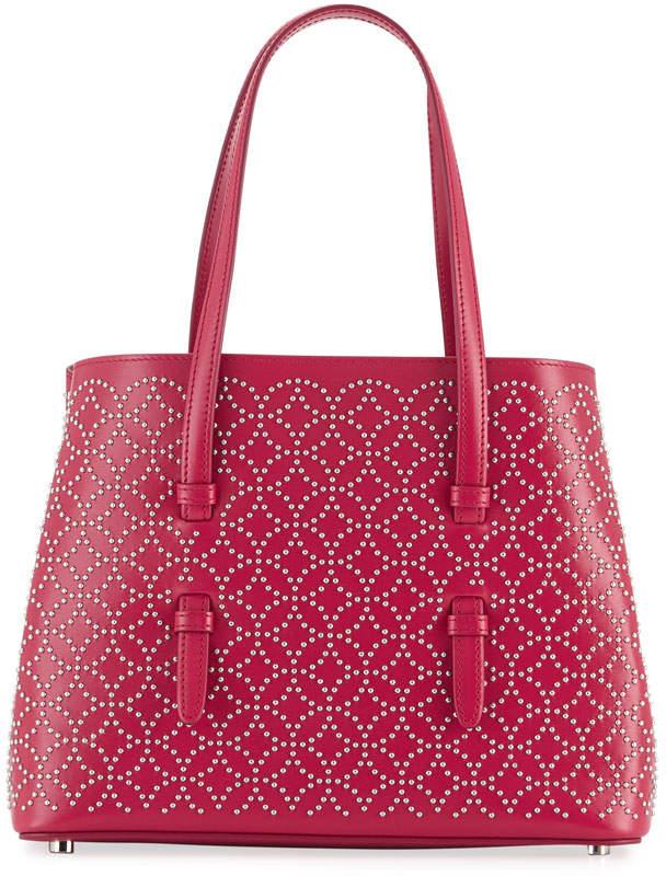 Alaia Studded Mini Tote Bag, Pink