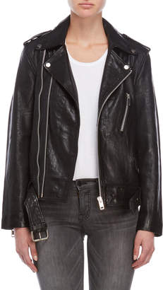 Kingsley Walter Baker Black Leather Moto Jacket