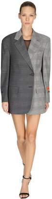 Heron Preston Oversize Bicolor Check Wool Blazer