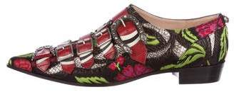 Gucci Brocade Monkstrap Loafers