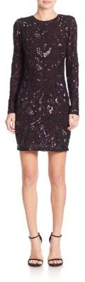 Parker Nikki Sequined Dress $595 thestylecure.com