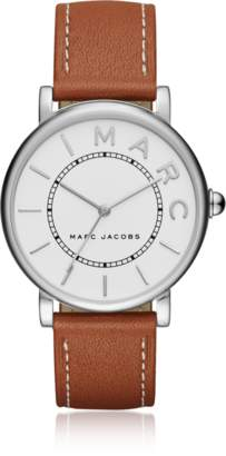 Marc Jacobs Roxy Silver Tone and Brown Leather Women's Watch