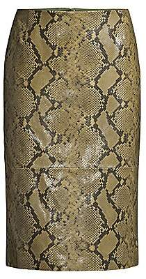 Lafayette 148 New York Men's Casey Stretch Snake-Print Pencil Skirt