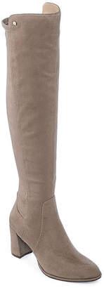 Liz Claiborne Womens Leyla Over the Knee Boots Block Heel Zip
