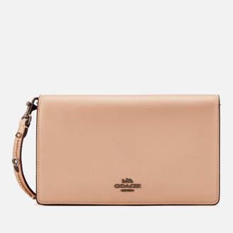 Coach 1941 Women's Foldover Chain Clutch Bag - Metallic Pink Gold