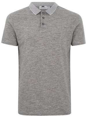 Topman Mens Mid Grey Gray Muscle Fit Polo
