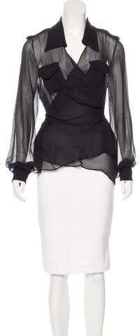 Tom Ford Sheer Long Sleeve Top
