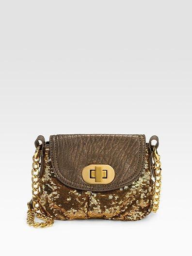 Badgley Mischka Platinum Label Little Connie Sequined Mini Bag