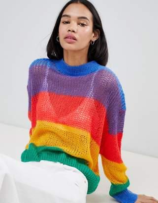Lazy Oaf Rainbow Knitted Jumper
