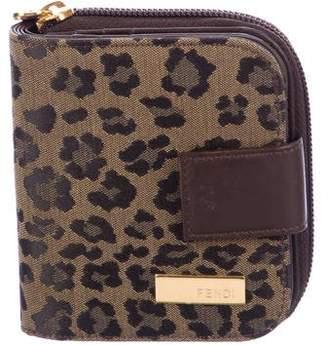 Fendi Jacquard Compact Wallet