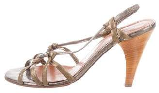 Lanvin Metallic Leather Sandals