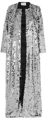 Morgan we are LEONE Sequined Tulle Coat - Silver