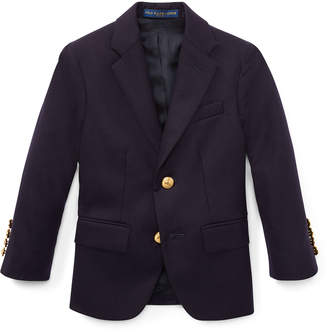 Ralph Lauren Lessona Wool Blazer, Navy, Size 2-4