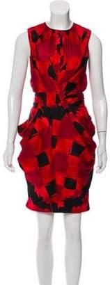 Vionnet Printed Knee-Length Dress Red Printed Knee-Length Dress