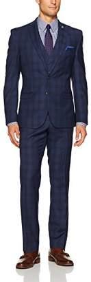 Nick Graham Men's 3 Piece Suit with Hemmed Pant