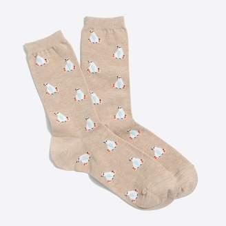 J.Crew Happy polar bear trouser socks