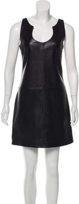Hotel Particulier Leather Mini Dress