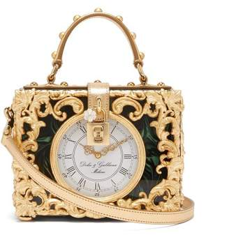Dolce & Gabbana Clockface Box Bag - Womens - Gold Multi