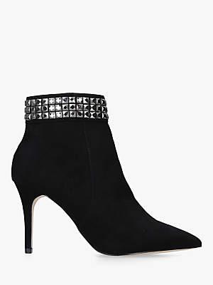 Carvela Lull Stud Suedette Ankle Boots, Black