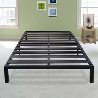 Latitude Run Branson Black Metal Platform Bed Frame