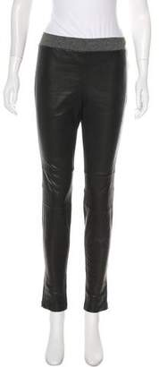 L'Agence Mid-Rise Leather Leggings