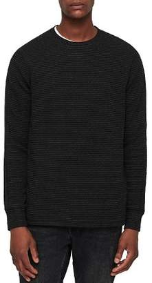 AllSaints Alpine Striped Crewneck Sweater