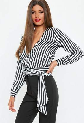 Missguided White Multi Wrap Tie Side Blouse