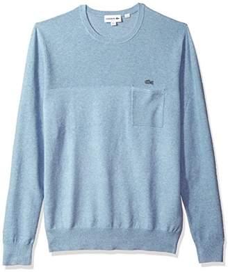 Lacoste Men's Long Sleeve Light Weight Stitch Cotten/Linen Sweater