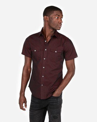 Express Chambray Two-Pocket Short Sleeve Shirt