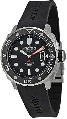 Alpina Seastrongダイバー300自動ブラックダイヤルゴムメンズ時計al-525lb4 V36