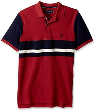 U.S. Polo Assn. Men's Classic Fit Color Block Short Sleeve Pique Shirt