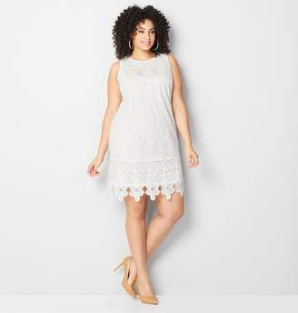 Avenue Crochet Floral Sheath Dress