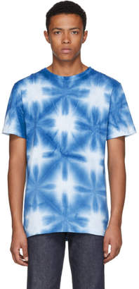 Blue Blue Japan Blue and White Snowflake Tie-Dye T-Shirt
