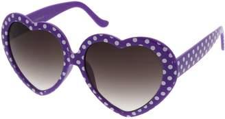 Zerouv Women's Oversize Neutral-Colored Lens Heart Shaped Sunglasses 55mm