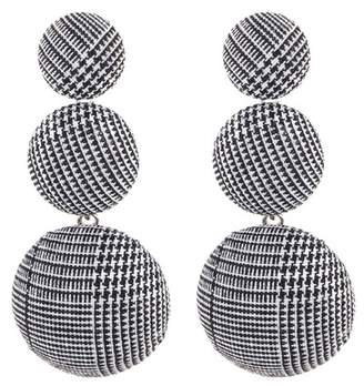 Natasha Accessories Three Tier Button Earrings