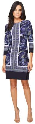 Donna Morgan 3/4 Sleeve Shift Dress Women's Dress