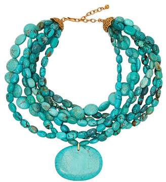 Karry O - Turquoise Necklace - Womens - Blue