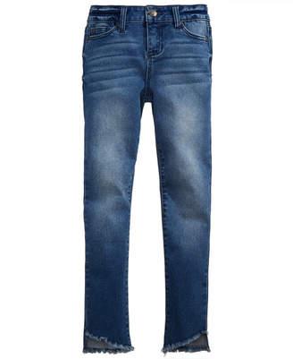 Celebrity Pink Angled Frayed Hem Skinny Jeans, Big Girls
