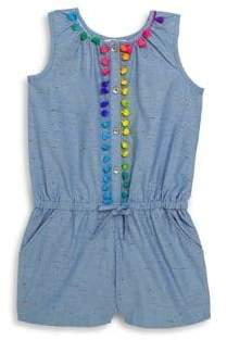 Design History Little Girl's Embroidered Romper