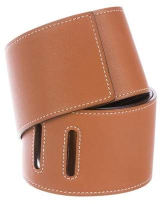 Hermes Wide Leather Belt Strap