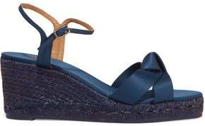 Castaner Becca Satin Wedge Espadrille Sandals