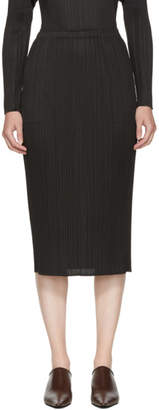 Pleats Please Issey Miyake Black Basics Pleated Skirt