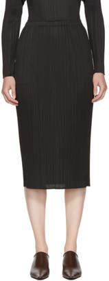 Pleats Please Issey Miyake Black Basics Pleated Skirt