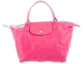 Longchamp Leather Le Pliage Tote Pink Leather Le Pliage Tote