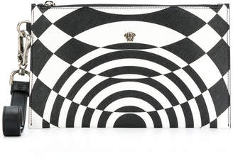 Versace illusion effect clutch